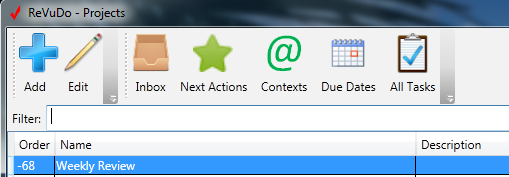 RevuDo Project Toolbar